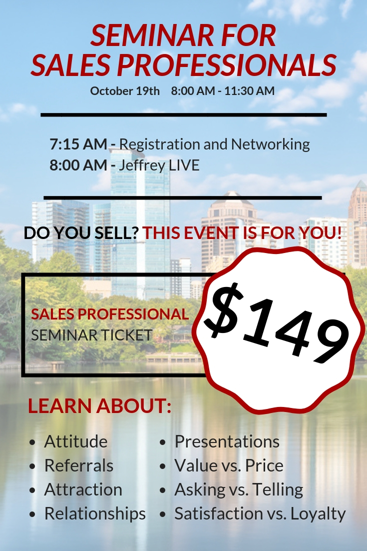 Sales Training in Philadelphia for Sales Professionals with Jeffrey Gitomer