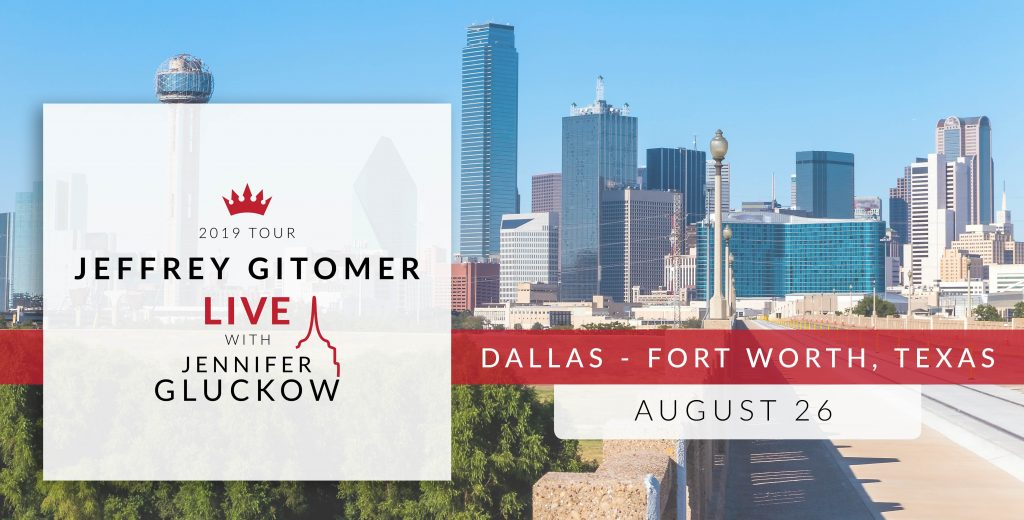 The 2019 Tour: Jeffrey Gitomer Live with Jennifer Gluckow in Dallas Fort Worth Texas